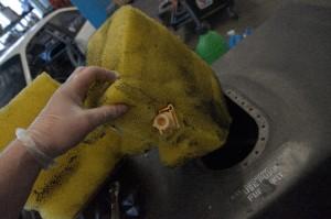 Saugstrahlpumpe im Tankschaum