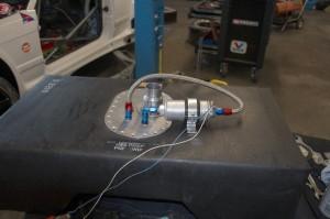 Testlauf der Saugstrahlpumpe
